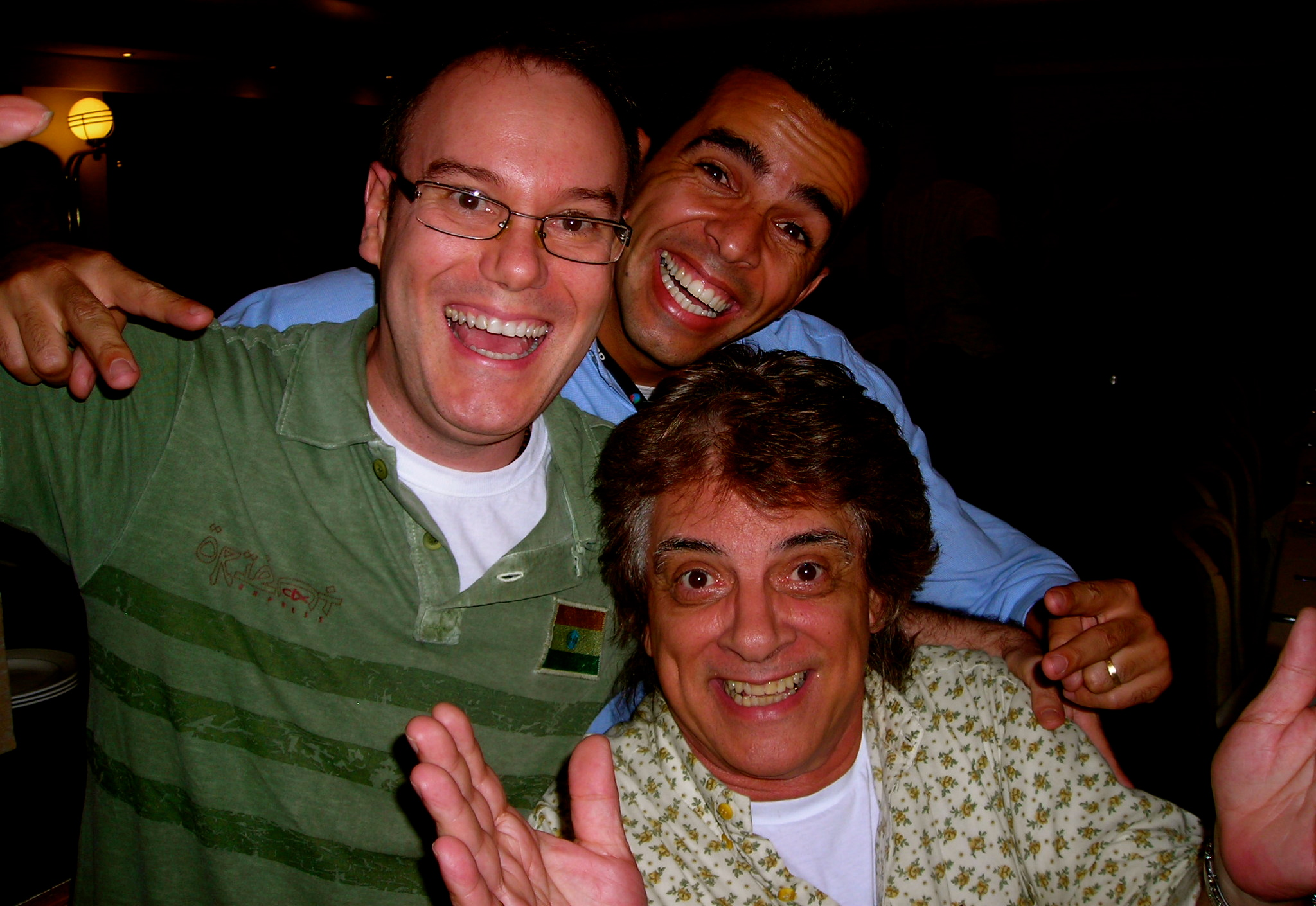 Keco com Márcio Antonucci (Diretor Musical da Record) e Clodoaldo. (2007)