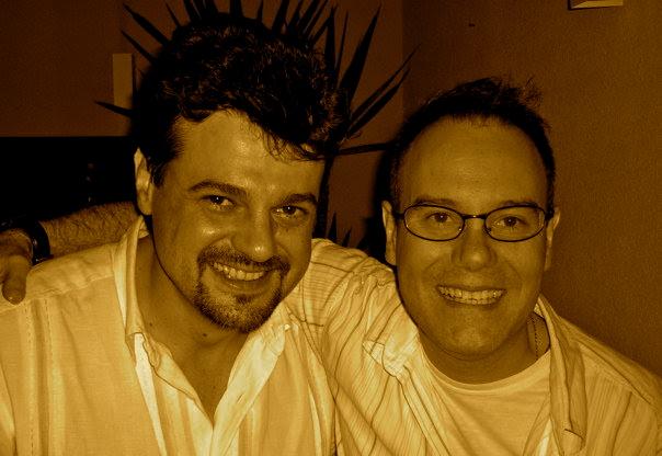 Keco com o amigo e guitarrista Rudy Arnout
