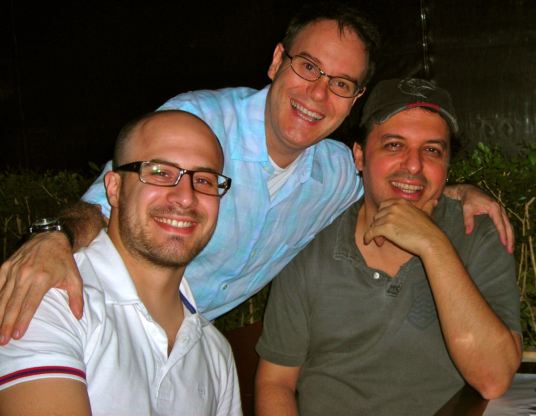 Keco com os músicos Conrado Goys e Beto Paccielo. (2009)