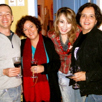 Os cantores e amigos Marcos Bowie, Daisy Cordeiro, Vanda Breder e Sueli Vargas