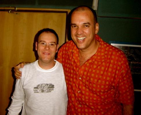 Keco Brandão e o compositor Moisés Santana
