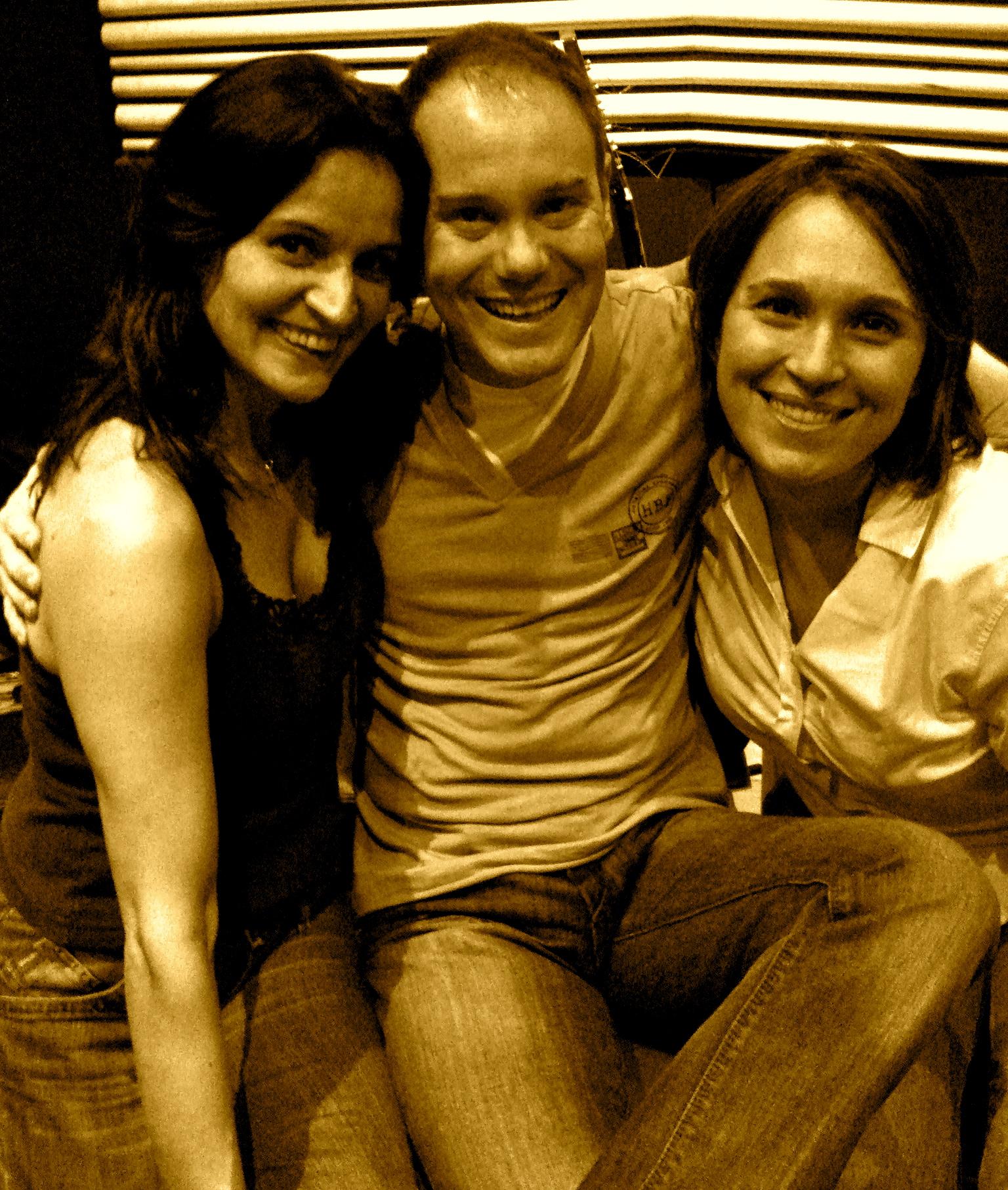 Na produtora Lua Nova com Marisa Silveira e Lucila Novaes